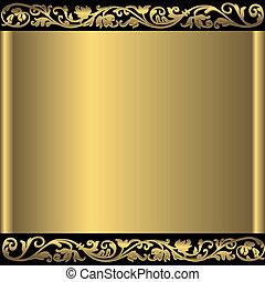 золотой, задний план, абстрактные, (vector)