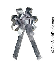 золотой, подарок, ribbon., isolated, bow., белый
