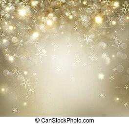 золотой, число звезд:, мигание, задний план, день отдыха, рождество