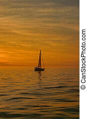 золотой, sails