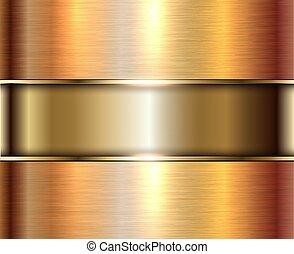 золото, абстрактные, задний план