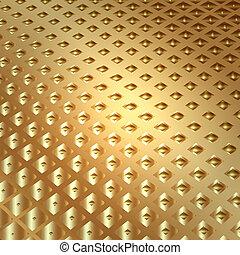 золото, вектор, задний план, squares, абстрактные, металл