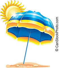 зонтик, пляж