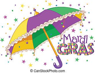 зонтик, mardi, gras