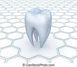 зубоврачебный, абстрактные, задний план, 3d
