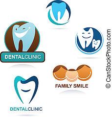 зубоврачебный, клиника, коллекция, icons
