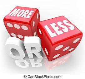 игральная кость, меньше, случайный, шанс, красный, words, или, авантюра, больше