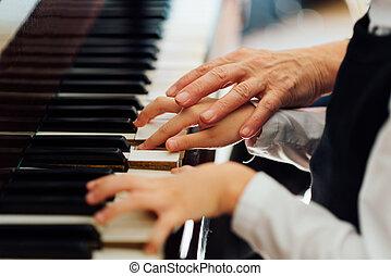 играть, helps, учитель, правильно, музыка, студент
