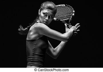 игрок, большой теннис, женский пол