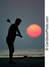 игрок, гольф