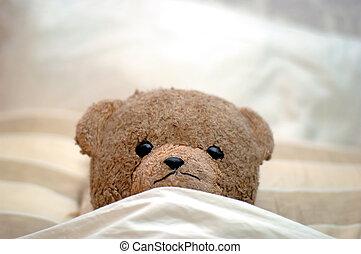 идет, постель, тедди