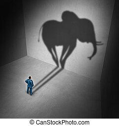 идиома, комната, слон