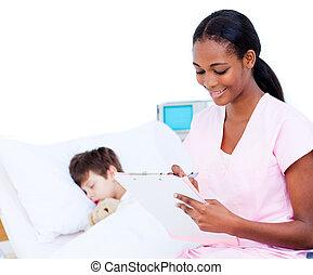 изготовление, врач, patient's, буфер обмена, улыбается, notes