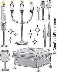 изделия из серебра, иллюстрация