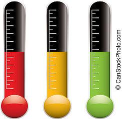 изменение, термометр