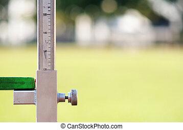 измерение, высокая, легкая атлетика, прыгать