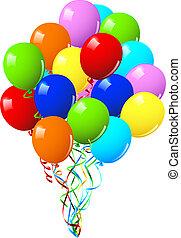 или, вечеринка, день рождения, праздник, balloons