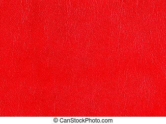 или, текстура, задний план, textured, грубый, surface., кожа, красный, faux