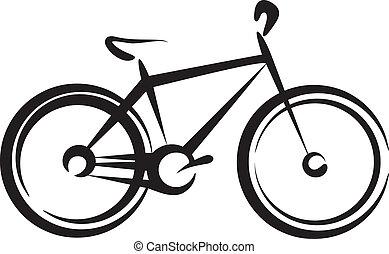 иллюстрация, велосипед, символ