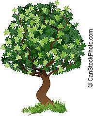 иллюстрация, дерево