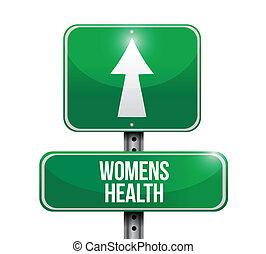 иллюстрация, знак, здоровье, дизайн, womens, дорога