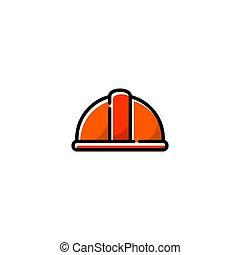 иллюстрация, изобразительное искусство, значок, шлем, квартира, линия, вектор