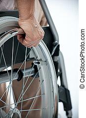 инвалидная коляска, рука