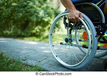 инвалидная коляска, ходить