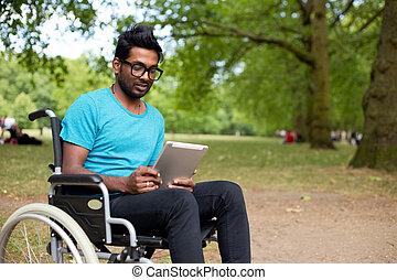 инвалидная коляска, человек