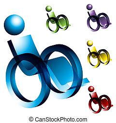 инвалидная коляска, icons