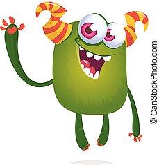 инопланетянин, иллюстрация, день всех святых, eyes., веселая, большой, мультфильм