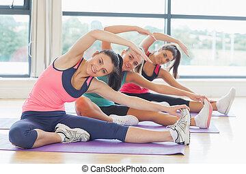 инструктор, пилат, растягивание, exercises, фитнес, класс