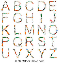 инструменты, алфавит