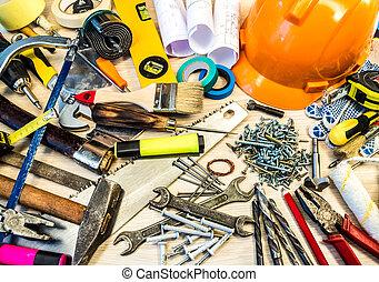 инструменты, строительство, задавать