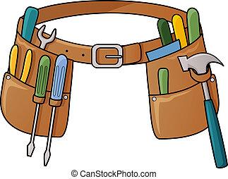 инструмент, акции, иллюстрация, ремень