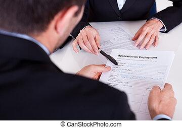 интервью, заявление, занятость, форма