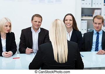 интервью, работа, заявитель