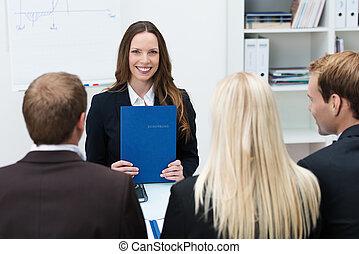 интервью, работа, заявитель, молодой