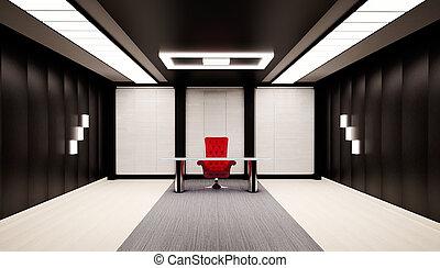 интерьер, офис, 3d