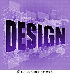 информация, концепция, экран, дизайн, words, цифровой, технологии