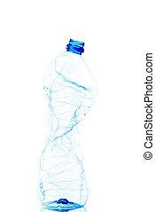 используемый, пустой, бутылка, пластик