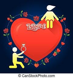 история, люблю, символ, человек, :, выйти замуж