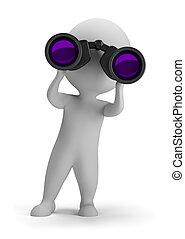 ищу, люди, -, binoculars, через, маленький, 3d
