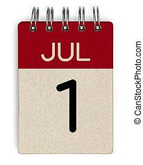 июль, календарь