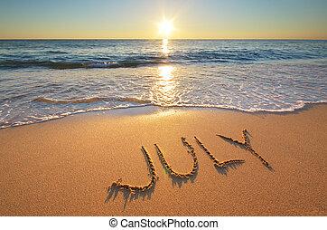 июль, слово, море