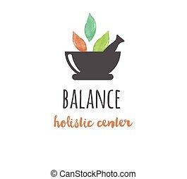 йога, оздоровительный, -, акварель, лекарственное средство, вектор, значок, логотип, альтернатива