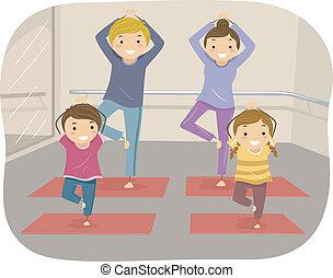 йога, семья