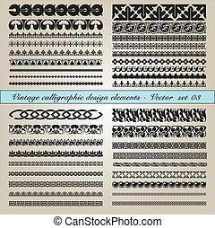 каллиграфический, марочный, elements, дизайн