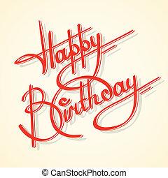 каллиграфия, день рождения, счастливый