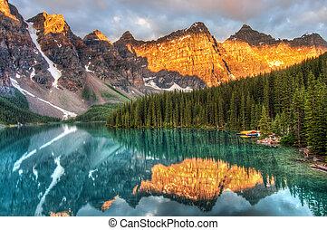 канада, морена, озеро